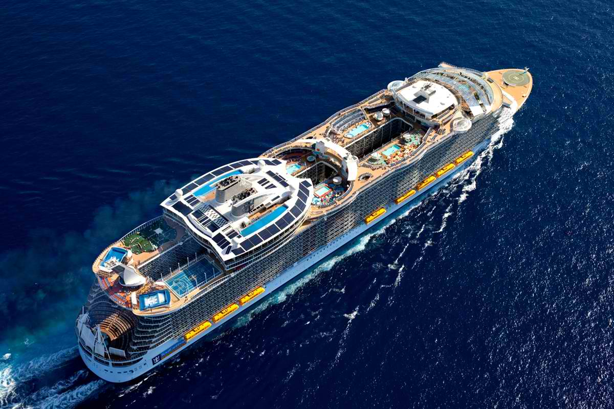 Royal Caribbean Oasis of the Seas vista aerea
