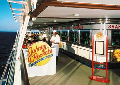 Voyager of the Seas - Restaurante Johnny Rockets